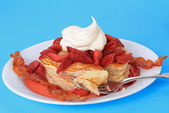 Strawberry Pancakes Royalty Free Stock Image