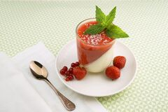 Strawberry parfait Royalty Free Stock Image