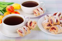 Strawberry Pastries and Coffee Royalty Free Stock Image