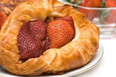 Strawberry Pastry Stock Photo
