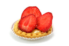 Strawberry pastry Stock Images
