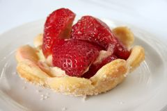 Strawberry pastry cup Royalty Free Stock Photo