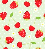 Strawberry pattern Stock Images