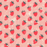 Strawberry pattern Royalty Free Stock Photos