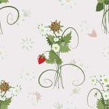 Strawberry pattern Stock Photo