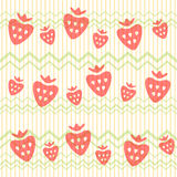 Strawberry pattern Royalty Free Stock Image
