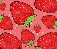 Strawberry pattern illustration Stock Images
