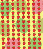 Strawberry pattern illustration Stock Photography