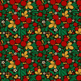 Strawberry pattern khohloma Stock Images
