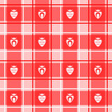 Strawberry pattern Stock Photography