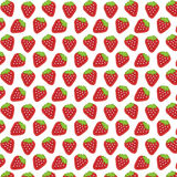 Strawberry pattern. Seamless pattern with strawberries on a white background Royalty Free Stock Photos