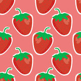 Strawberry pattern Royalty Free Stock Images