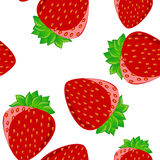 Strawberry pattern seamless,vector Royalty Free Stock Photos