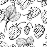 Strawberry pattern Stock Photos