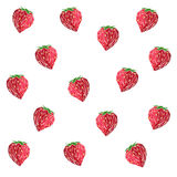 Strawberry pattern. Pattern of strawberries on a white background Royalty Free Stock Photography