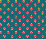 Strawberry pattern. Strawberry vector seamless pattern. Wraping paper print Royalty Free Stock Photo