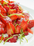 Strawberry Pavlova Stock Image
