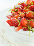Strawberry Pavlova Royalty Free Stock Images