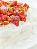 Strawberry Pavlova Royalty Free Stock Photos