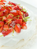 Strawberry Pavlova Royalty Free Stock Photos