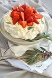 Strawberry Pavlova Royalty Free Stock Photo
