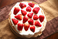 Strawberry Pavlova stock photos