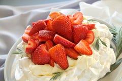 Strawberry Pavola Stock Images