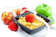 Strawberry, peach, apple, kiwi ,measure tape royalty free stock photography