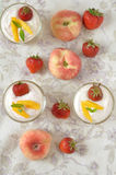 Strawberry and peach dessert Royalty Free Stock Photography