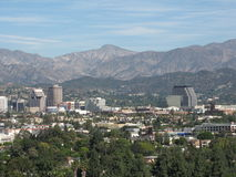 Strawberry Peak and Burbank. CA viewed from Griffith Park Royalty Free Stock Image