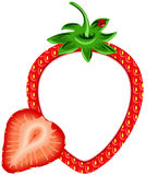 Strawberry Photo Frame Stock Photo