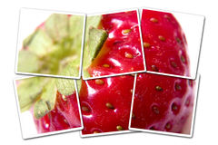 Strawberry photo isolated. Have a plan, try to see a bigger picture stock images