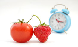 Strawberry. Pic of strawberry and tomato Stock Images