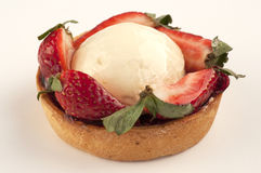 Strawberry pie. A strawberry pie on a white background stock images