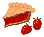 Strawberry pie vector illustration