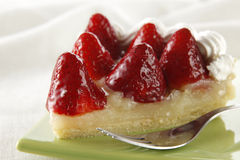 Strawberry pie Stock Photography