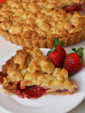 Strawberry Pie. Delicious pie with strawberry fillings Stock Photo