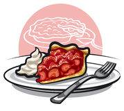 Strawberry pie Royalty Free Stock Photos