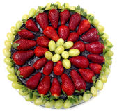 Strawberry Pie. Metaphor of a pie chart Royalty Free Stock Image