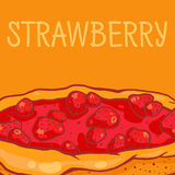 Strawberry pie. Colorful  illustration of tasty strawberry pie Stock Images