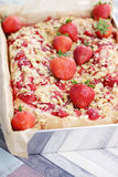 Strawberry pie Stock Images