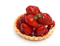 Strawberry pie. Isolate on white Stock Images
