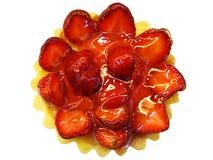 Strawberry pie isolated Stock Photos