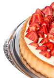 Strawberry Pie isolated on white Stock Photos