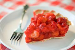 Strawberry Pie Slice Stock Image