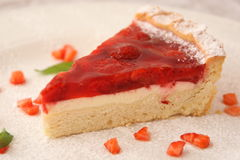 Strawberry Pie Slice Stock Photography