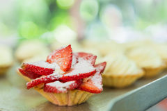 Strawberry Pie Tart Closeup Royalty Free Stock Photo