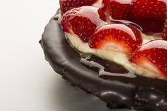Strawberry pie or tart Stock Photo