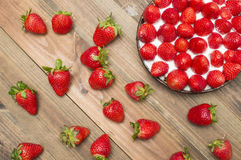 Strawberry pie. Strawberry tart , strawberry pie , strawberry jam, on the table Stock Photography
