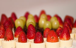 Strawberry Pies. A bunch of mini strawberry pies Royalty Free Stock Images